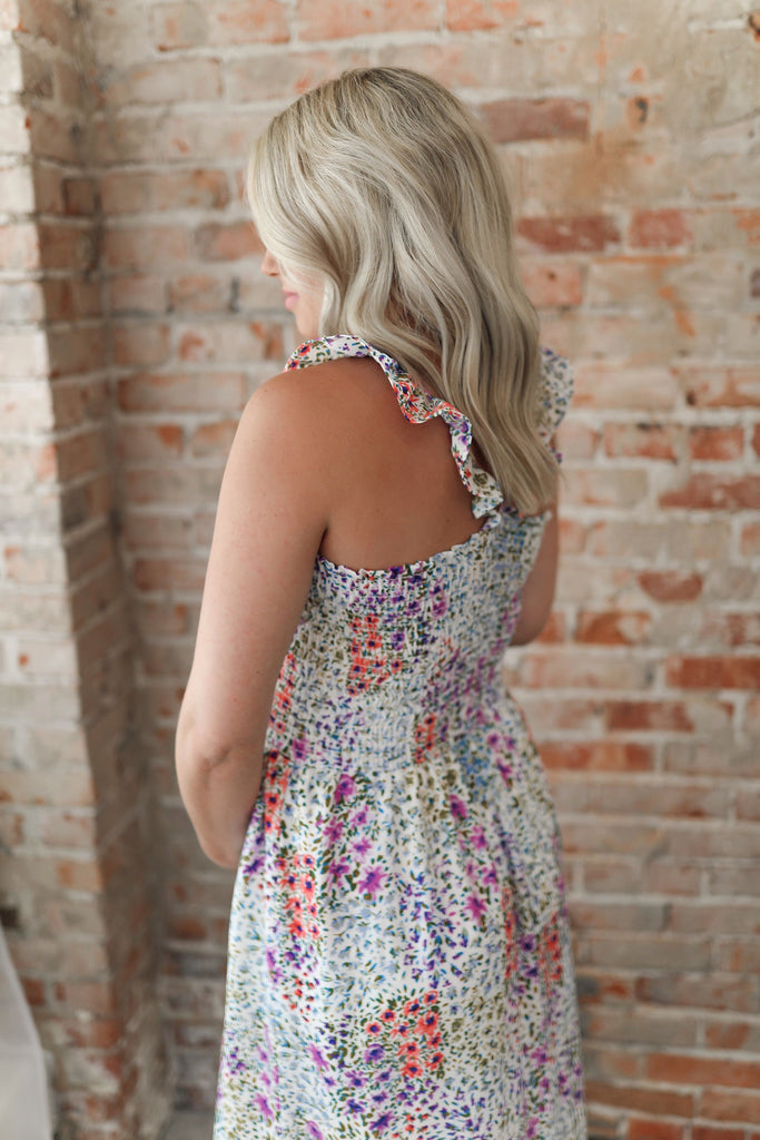 Multi Color Floral Maxi Dress Inspired by Shelby Ditch