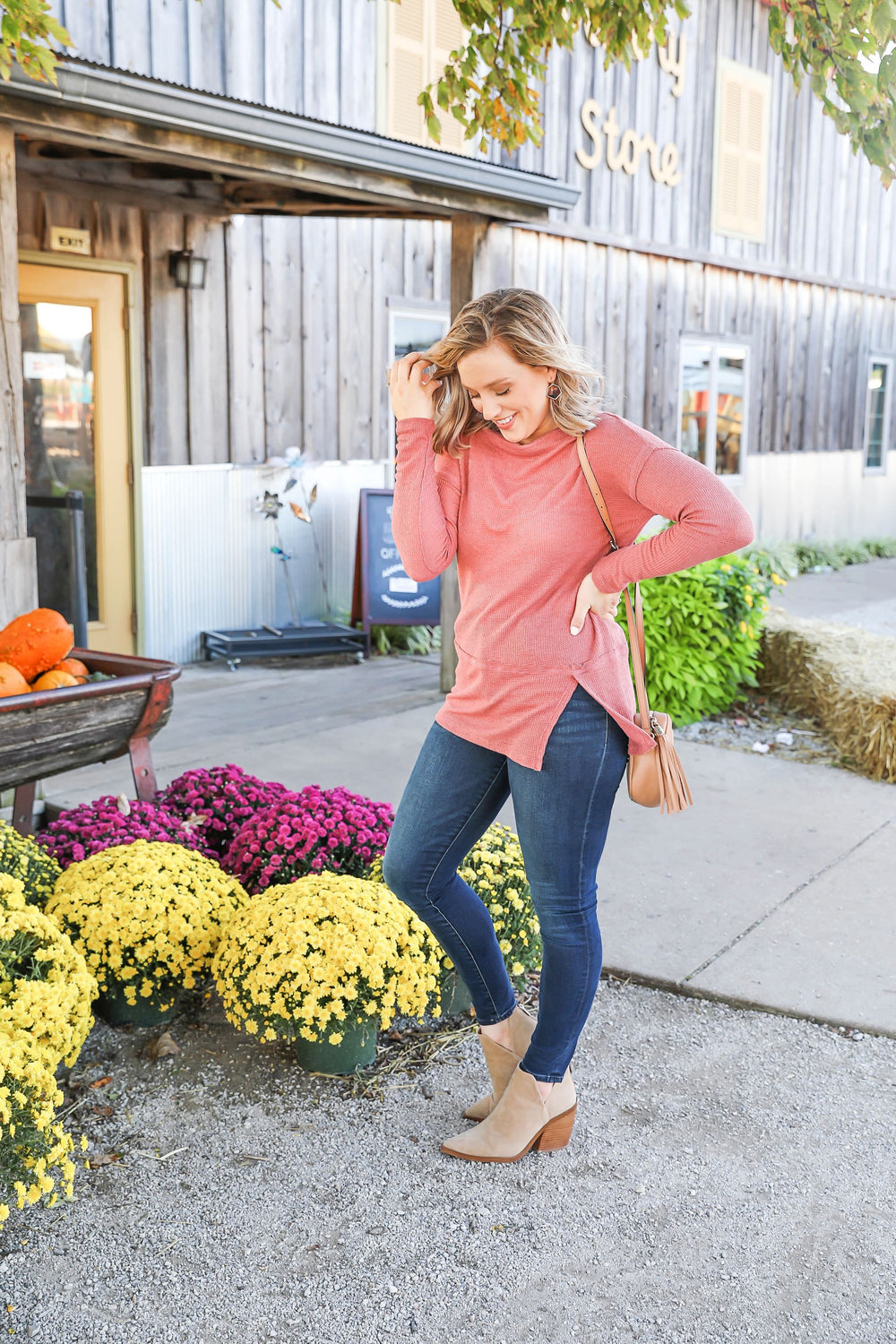 No Rules Pink off the Shoulder Top Inspired by Kendra Raymer x Kendra Scott