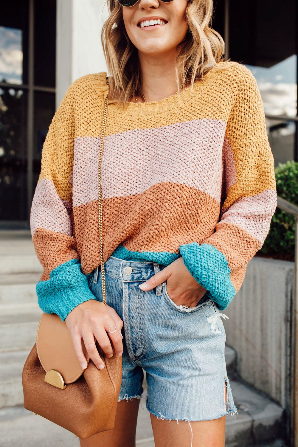 Oceanside Sunset Sweater Inspired by Ashley from Twenties Girl Style