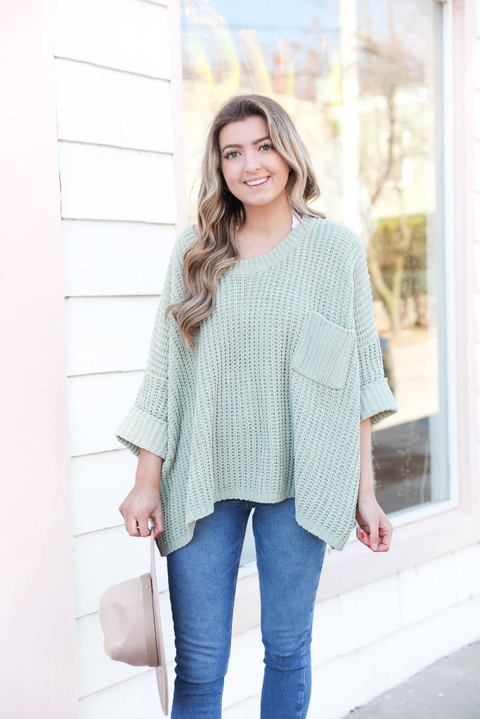 Oceanside Sweater in Sage