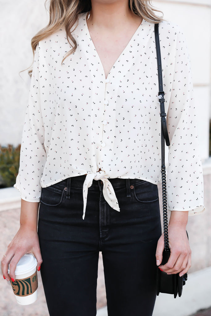 Once Upon a Time Tied Floral Blouse