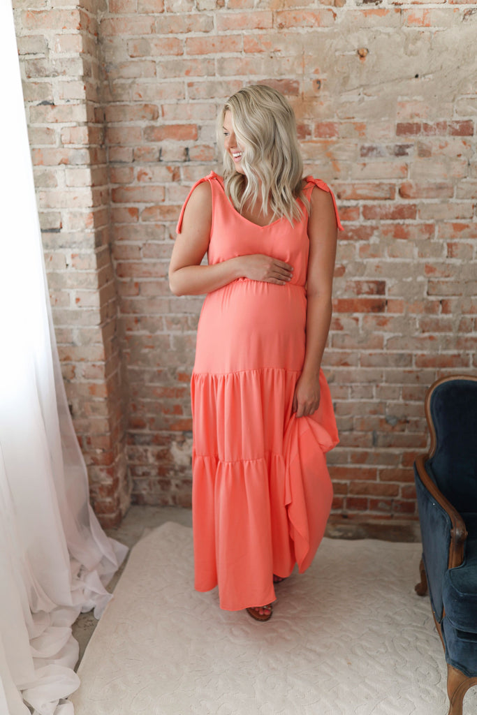 One in a Melon Tiered Maxi Dress Inspired by Shelby Ditch