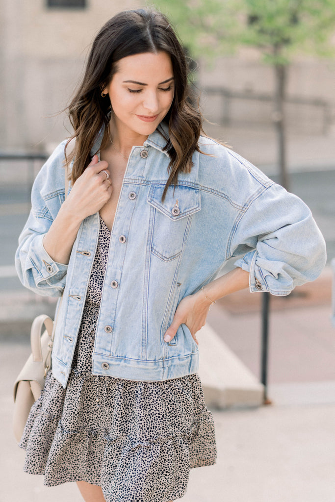 Oversized Denim Jacket Inspired by Taylor Brown