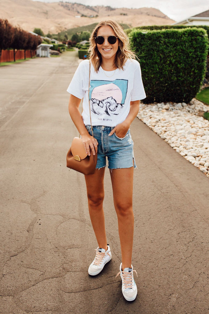 Peace Be Still Beach Tee Inspired by Ashley from Twenties Girl Style