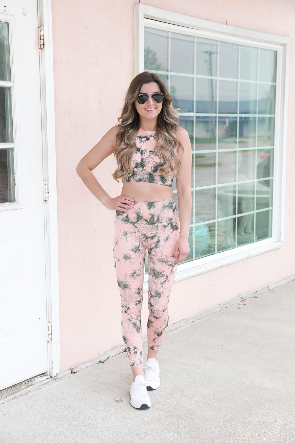Peach Oceanside Leggings
