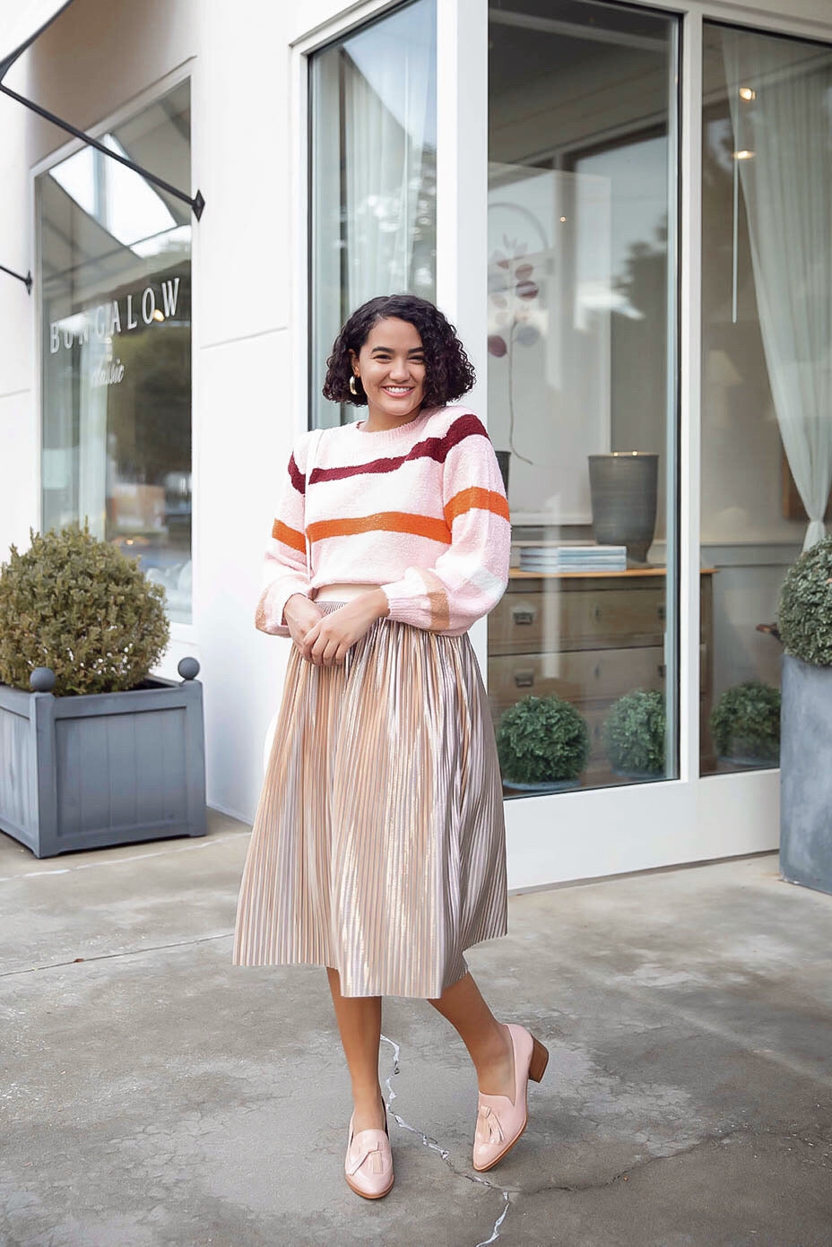 Pink Multi Stripe Sweater Inspired by Amanda Johnson