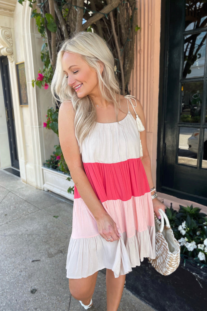 Pink & Powerful Colorblock Dress Inspired by Lauren | The Palm Beach Collection