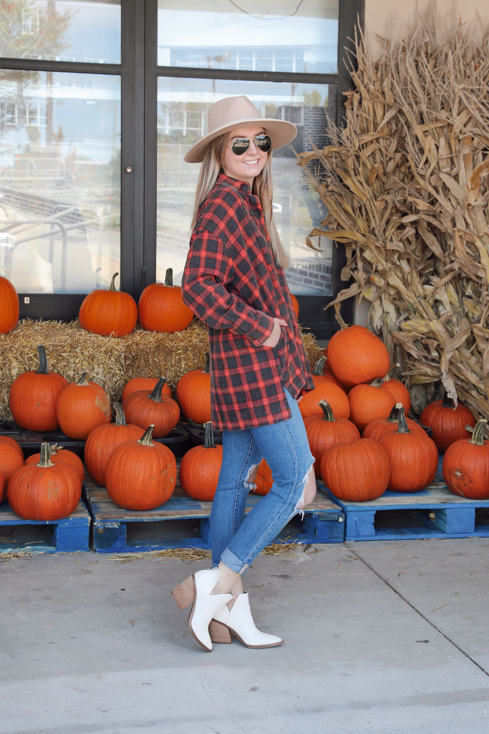 Plaid Harvest Button Down - Red