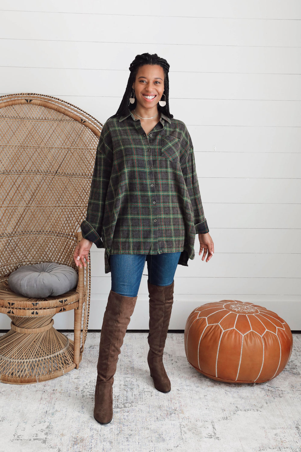 Plaid Harvest Button Down - Green