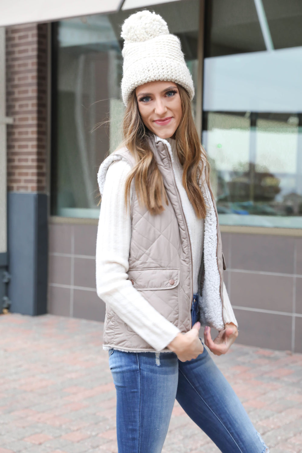 Ready Set Reversible Sherpa Quilted Vest