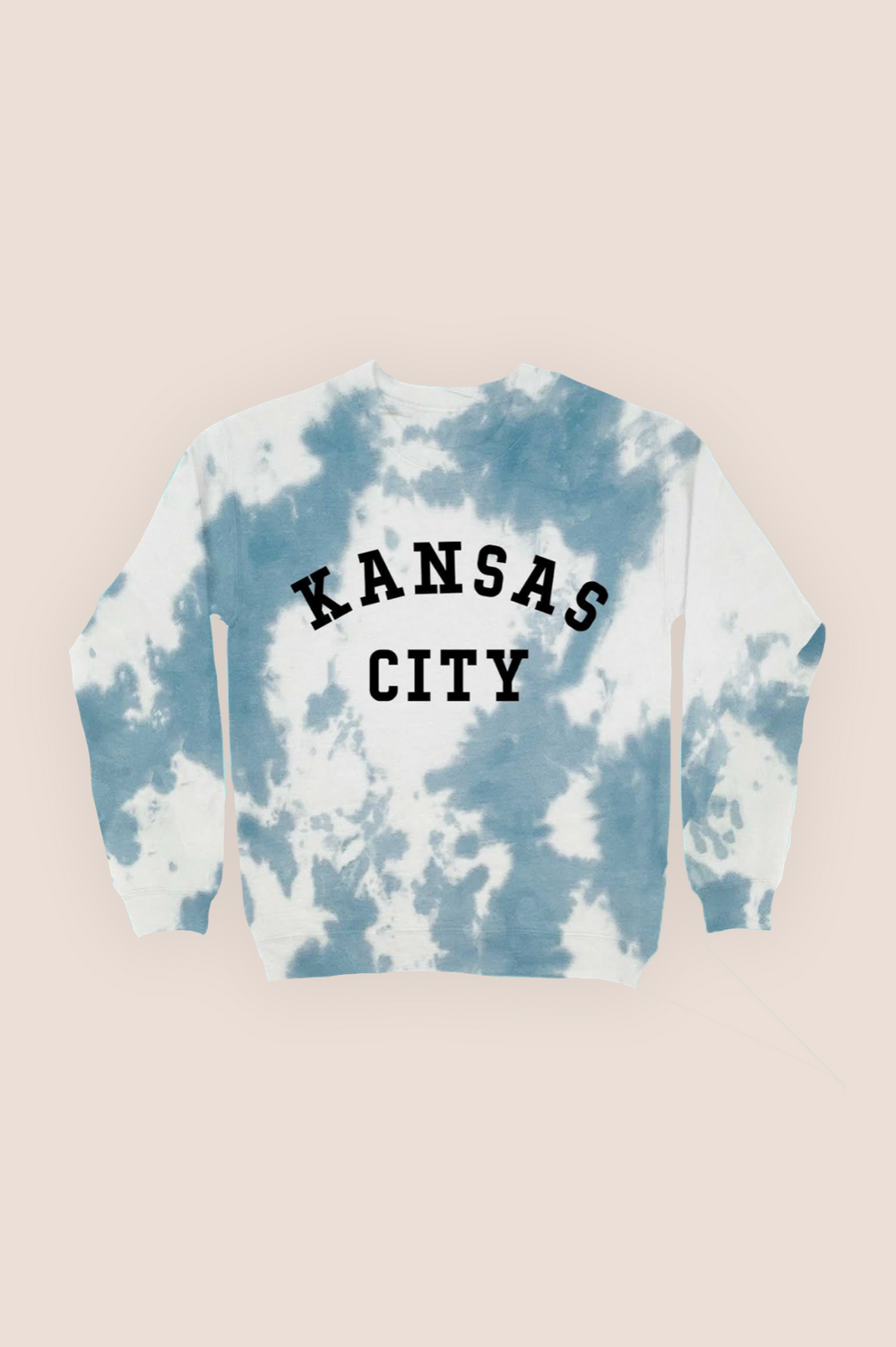 Kansas City Tie Dye Sweatshirt - Navy