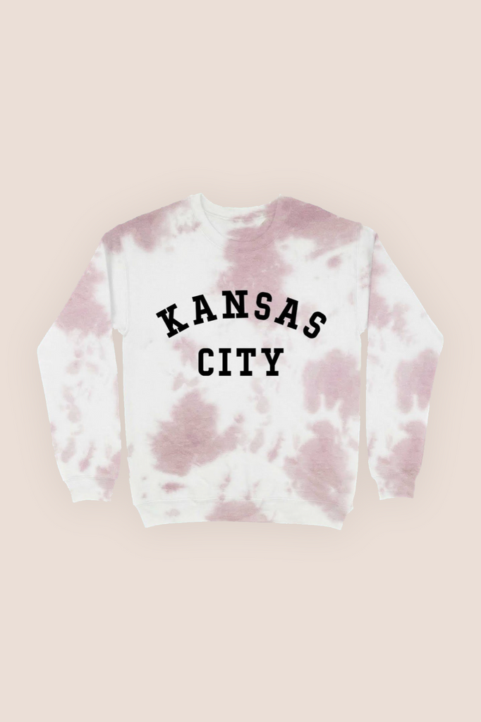 Kansas City Tie Dye Sweatshirt - Mauve