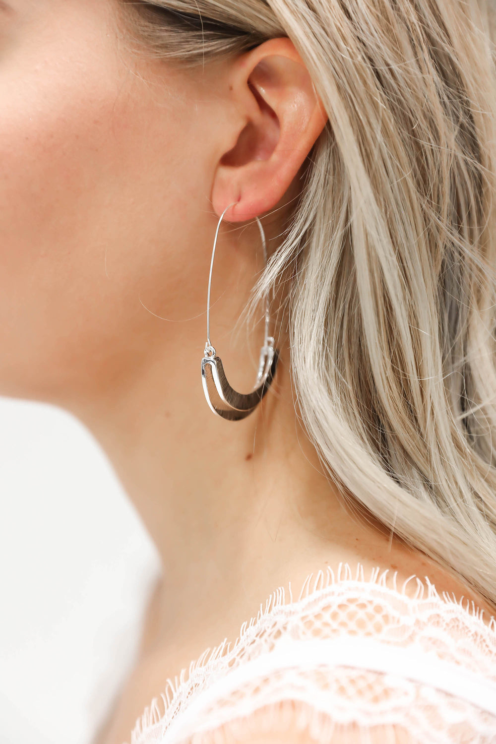 Something Good Silver Half Hoops