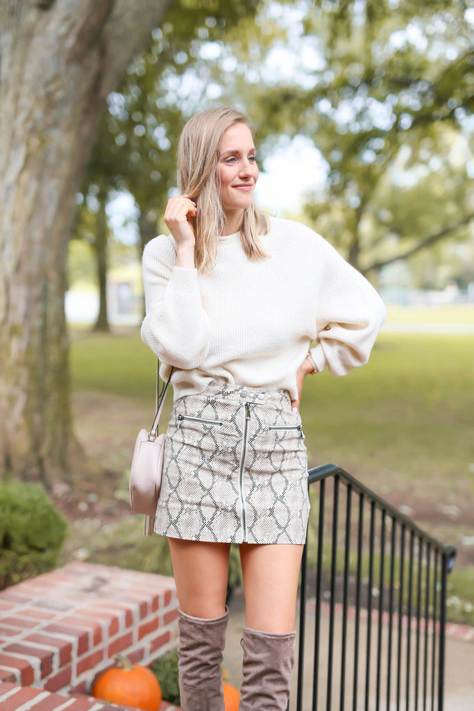 "Stop Staring Snake Skin Skirt ""Inspired by Heather Sprague"""