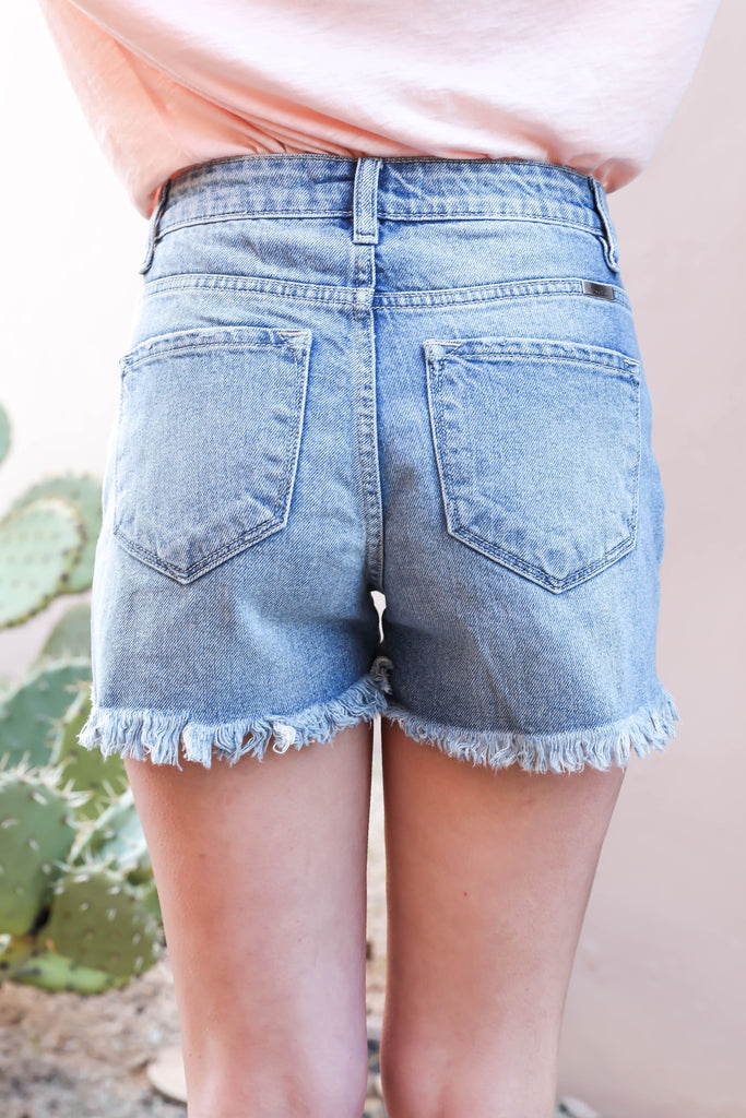 Summer Love Distressed Denim Shorts