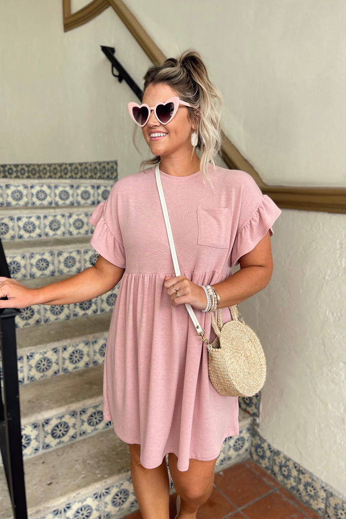 Sunset Babydoll T-Shirt Dress Inspired by Liz | The Palm Beach Collection