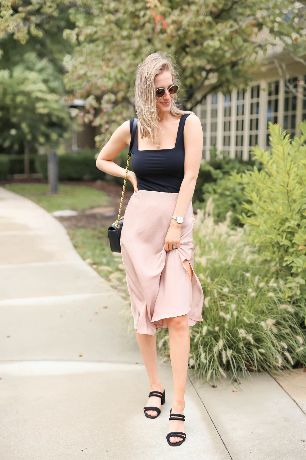 "The Perfect Pink Midi Skirt ""Inspired by Heather Sprague"""