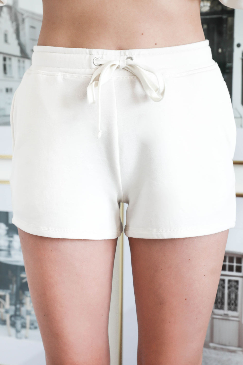 Thread & Supply Lux Lounge Shorts - White