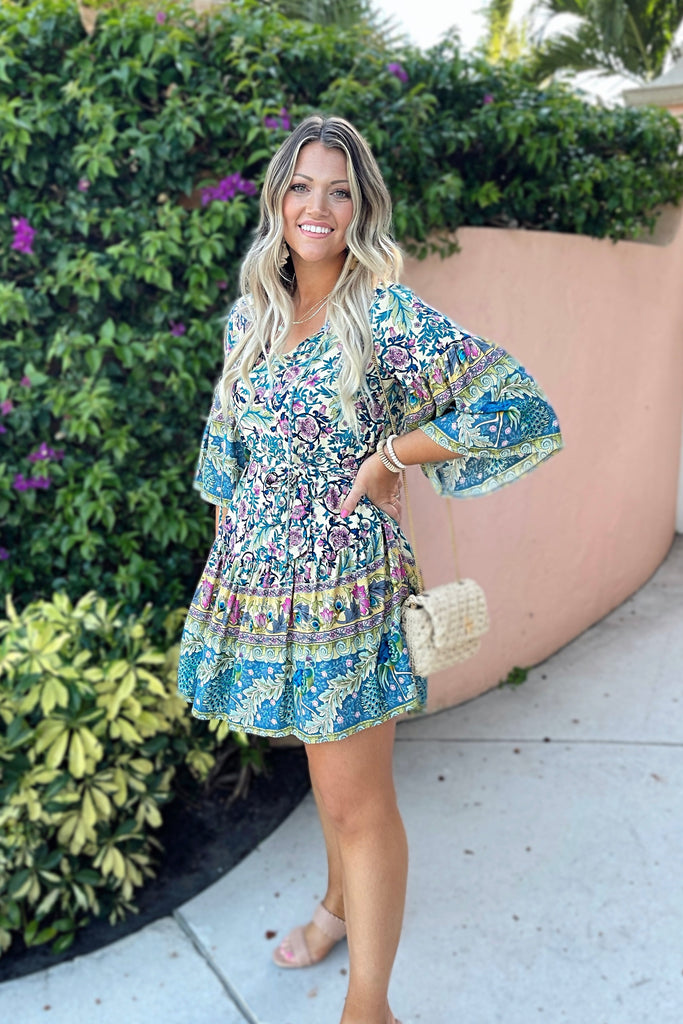 Tropical Paradise Mini Dress Inspired by Liz | The Palm Beach Collection