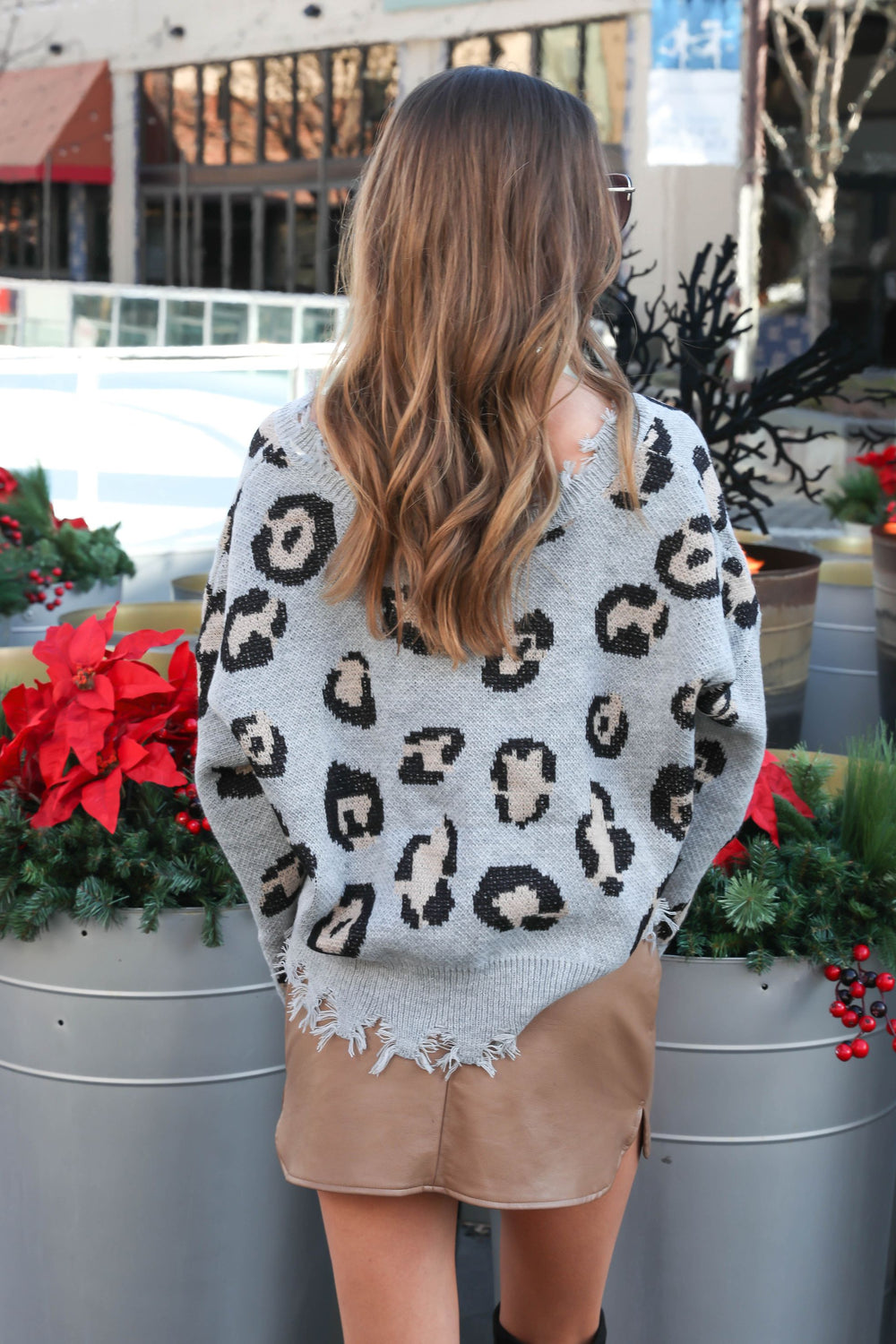Untamed Distressed Leopard Sweater