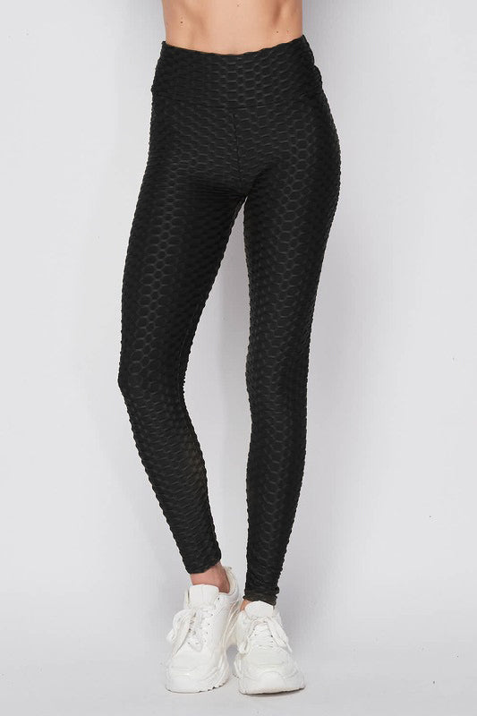 Viral Ruched Tiktok Leggings - Black