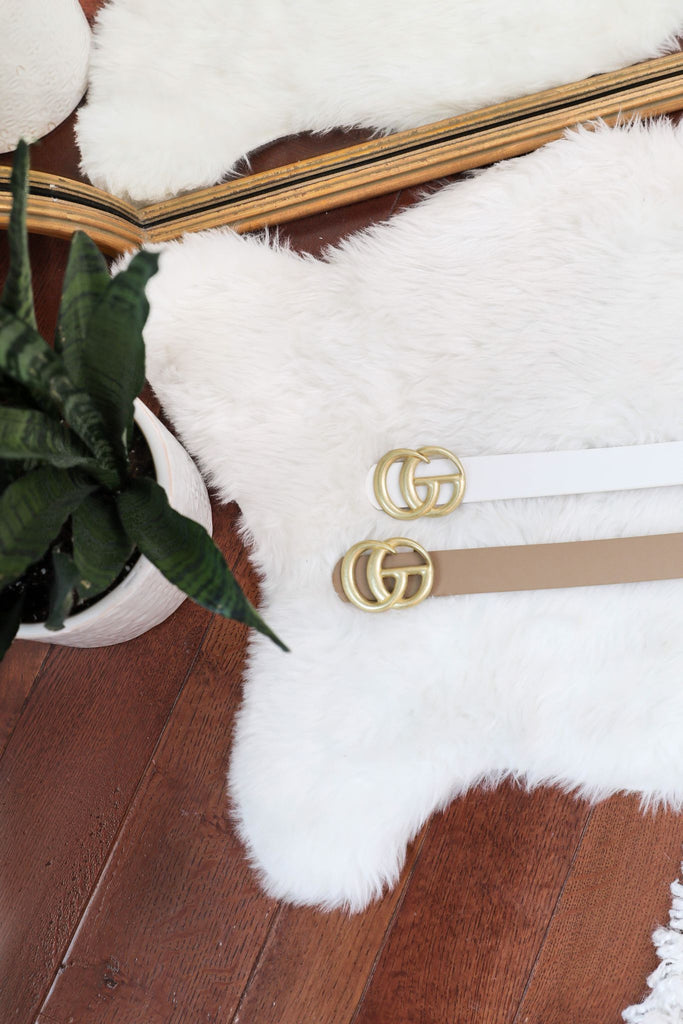 White Glamour Belt
