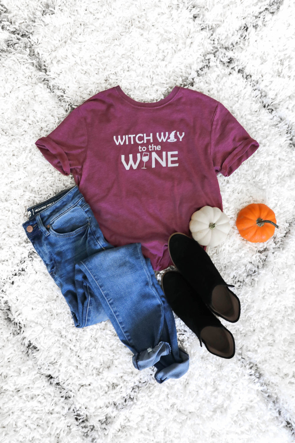 Witch Way to the Wine Graphic T-Shirt