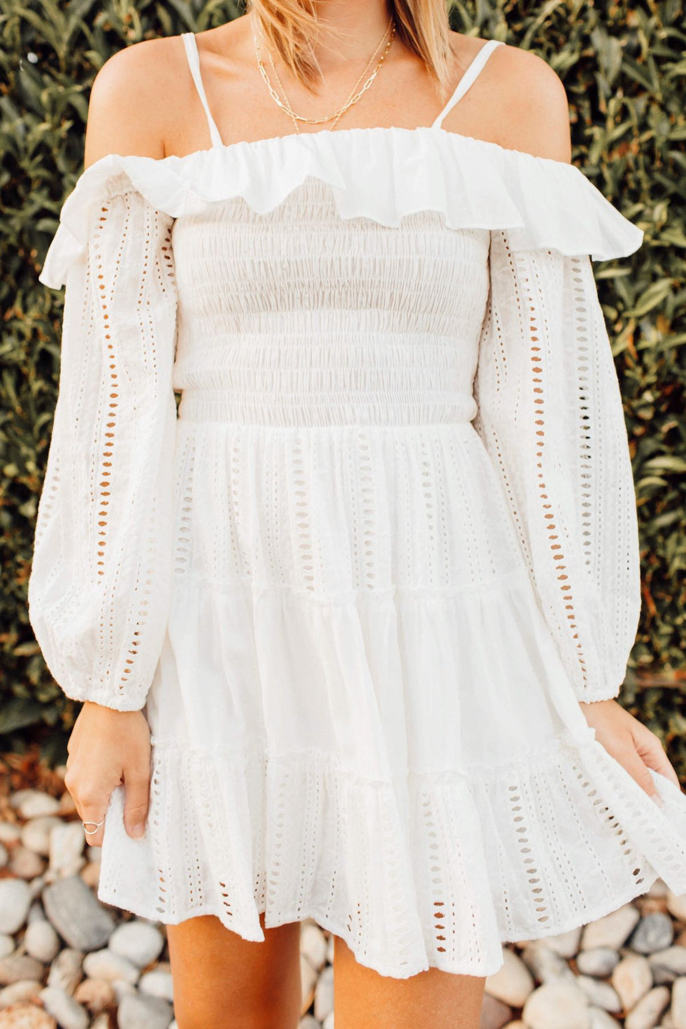 Wonderland White Smocked Dress Inspired by Ashley from Twenties Girl Style