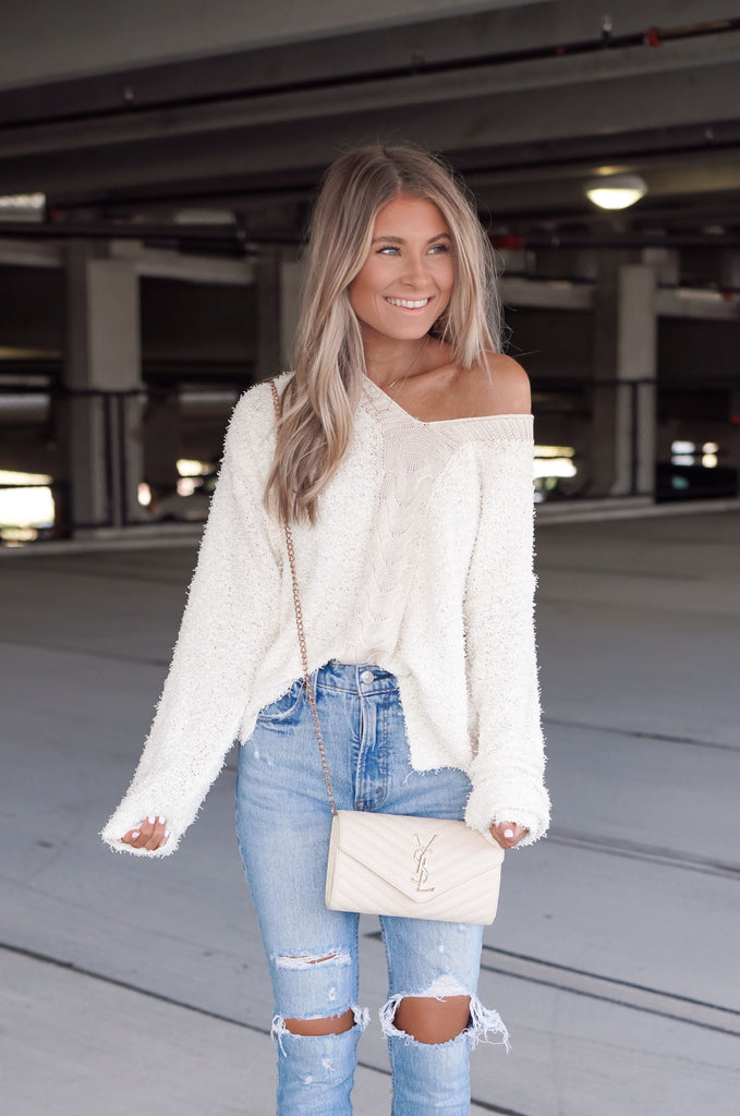 Day Dream Ivory Sweater Inspired by Kristin Coffey Pressley