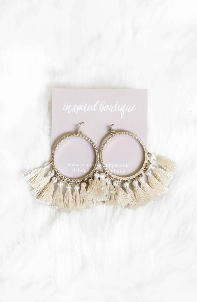 You are the One Tassel Earrings - Ivory