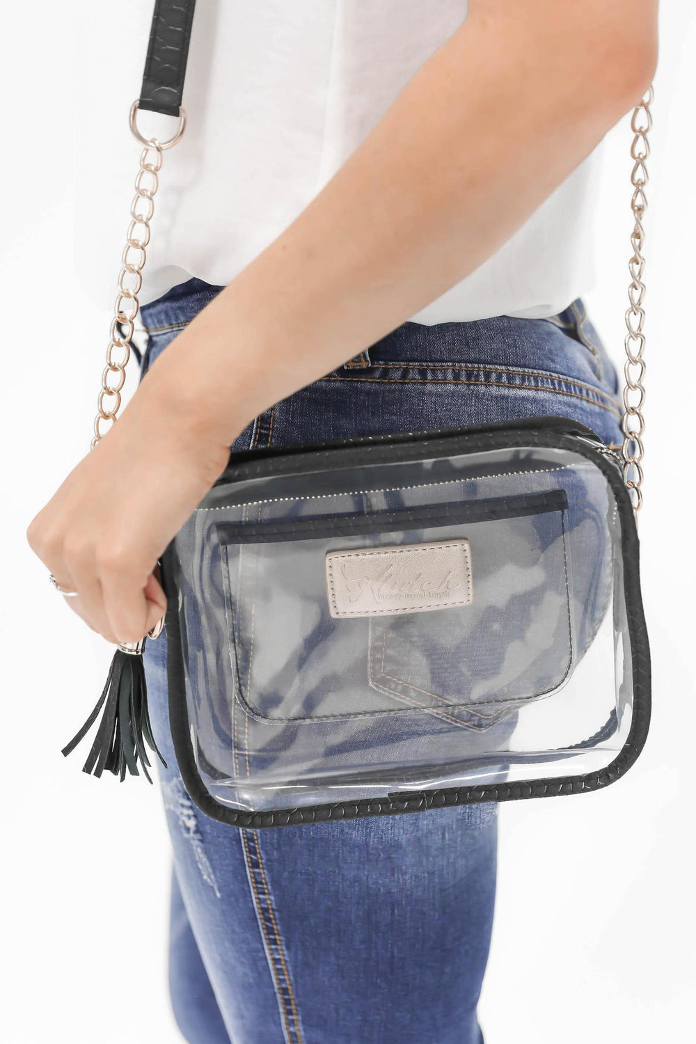 Game Day Clear Stadium Bag BLACK