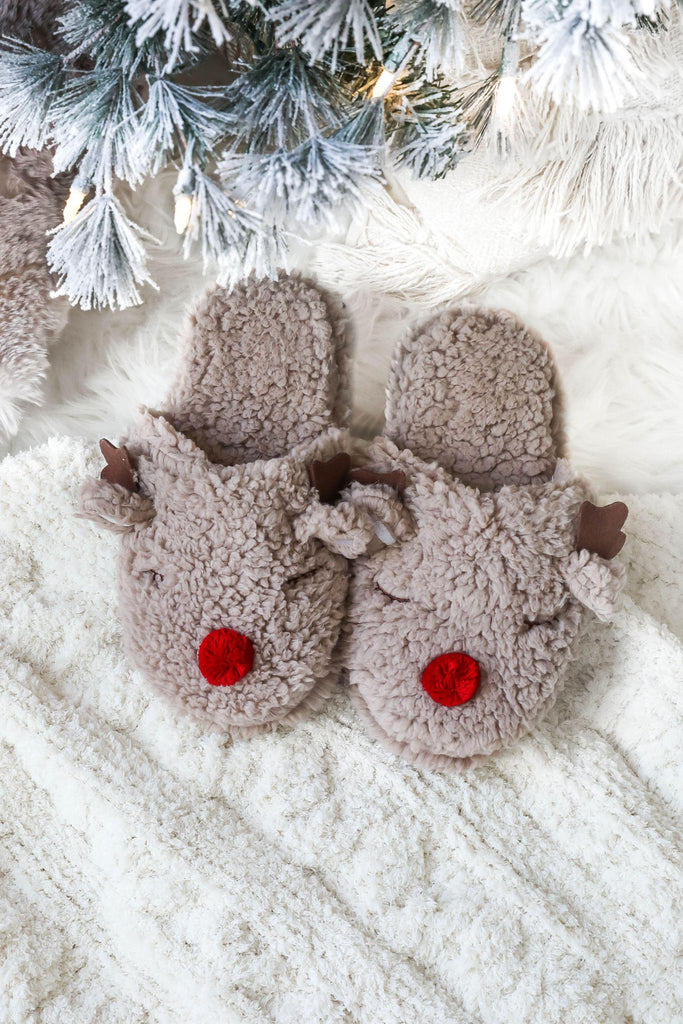 Sleepy Rudolph Reindeer Slippers