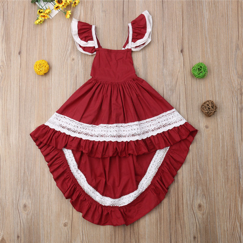 Summer Toddler Ruffle Lace Dress