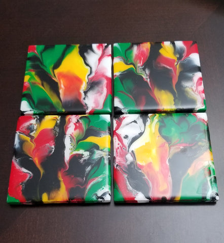Coaster set - Toucans