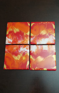 Coaster set - Tangerine