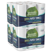 Load image into Gallery viewer, Seventh Generation Paper Towels, 100% Recycled Paper, 2-ply, 6-Count (Pack of 4)