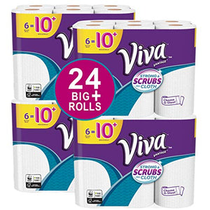 VIVA Vantage Choose-A-Sheet* Paper Towels, White, Big Plus Roll, 24 Rolls, Packaging May Vary