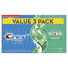 Load image into Gallery viewer, Crest Complete Whitening + Scope Toothpaste, Minty Fresh, 6.2 oz Triple pack