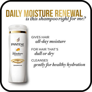 Pantene Moisturizing Shampoo for Dry Hair, Daily Moisture Renewal, 25.4 Fl Oz (Pack of 2) (Packaging May Vary)