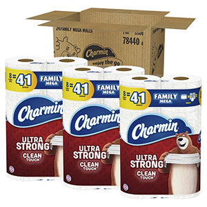 Charmin Ultra Strong Clean Touch Toilet Paper, Family Mega Roll, 24 Count Packaging May Vary
