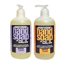 Load image into Gallery viewer, Everyone Botanical Lavender + Coconut Hand Soap & Everyone Botanical Apricot + Vanilla Hand Soap Bundle, 12.75 oz each