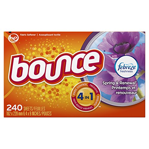 Bounce Fabric Softener and Dryer Sheets, Spring & Renewal, 240 Count