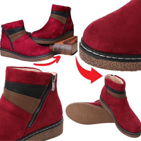 Bunion Protection Side Zip Ankle Booties for Women