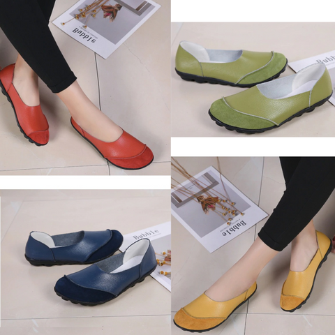 Women's Moccasins Soft Leather Flats for Bunions