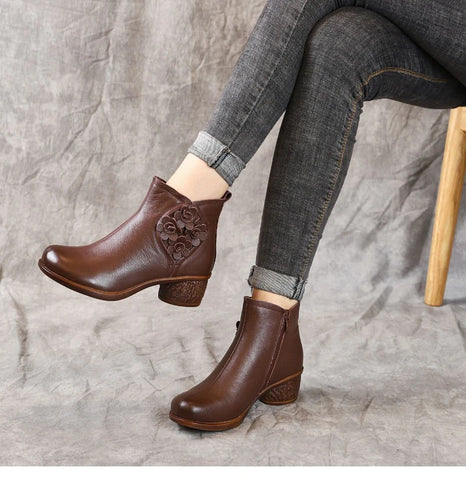 Comfy Retro Women's Ankle Boots for Bunions