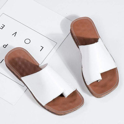 BunionFree™ Orthopedic Correction Leather Sandals - Bunion Free