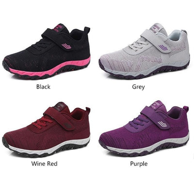 Cushioned Orthopedic Women's Walking Shoes - Bunion Free