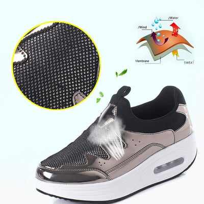 Fashionable Shoes for Bunions Platform Slip On Sneakers - Bunion Free