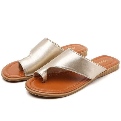 Genuine PU Leather Bunion Correction Sandals - Bunion Free