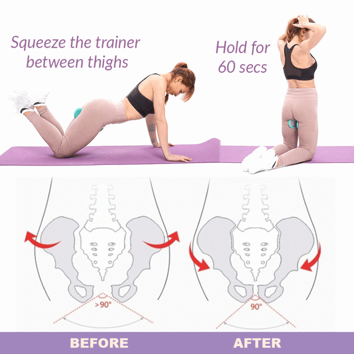 How to use the Hourglass Figure Hip Trainer and how it prevents pelvic dislocation.